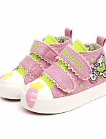 cheap -Girls' Shoes Canvas Fall Comfort Sneakers for Dark Blue / Pink