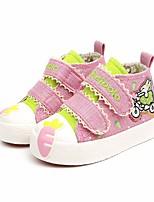 Недорогие -Девочки Обувь Полотно Осень Удобная обувь Кеды для Темно-синий / Розовый