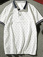 cheap -Men's Street chic Polo - Polka Dot