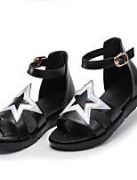 Недорогие -Девочки Обувь Полиуретан Лето Удобная обувь Сандалии для Белый / Черный / Розовый