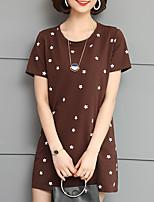 abordables -Tee-shirt Femme, Couleur Pleine Glands Rétro Bleu & blanc
