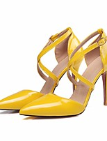 cheap -Women's Shoes PU(Polyurethane) Fall Comfort / Basic Pump Heels Stiletto Heel White / Black / Yellow