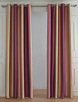 cheap -Blackout Curtains Drapes Bedroom Stripe 100% Polyester Yarn Dyed