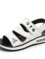 preiswerte -Jungen Schuhe Leder Sommer Komfort Sandalen für Draussen Weiß Schwarz Gelb
