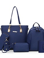 cheap -Women's Bags Oxford Cloth Bag Set 6 Pieces Purse Set Zipper Beige / Purple / Fuchsia