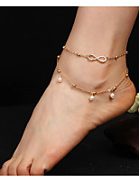 cheap -Anklet - Imitation Pearl Double Layered Gold / Silver Infinity For Daily / Women's