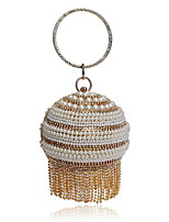 cheap -Women's Bags Pearl / Rhinestones Evening Bag Crystals / Pearls for Wedding / Event / Party Gold / Black / Silver