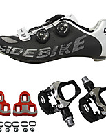 abordables -SIDEBIKE Homme Chaussures de Cyclisme avec Pédale / Chaussures de Cyclisme avec Pédale & Fixation / Chaussures Vélo / Chaussures de