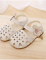 cheap -Girls' Shoes PU Summer Flower Girl Shoes Comfort Sandals for Outdoor White Green Pink