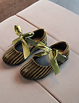 cheap -Girls' Shoes Fleece Spring Moccasin Loafers & Slip-Ons Bowknot for Outdoor Black Yellow Green