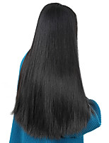 cheap -Unprocessed Human Hair Wig Brazilian Hair Straight Side Part 250% Density With Baby Hair Unprocessed Natural Hairline Natural Short Long