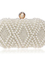 cheap -Women's Bags Terylene Evening Bag Crystals / Pearls for Wedding / Event / Party Beige