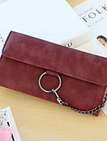 cheap -Women's Bags PU Leather Wallet Buttons Red / Gray / Brown