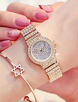 cheap -Women's Dress Watch / Wrist Watch Japanese New Design / Casual Watch / Imitation Diamond Stainless Steel Band Fashion / Elegant Silver /