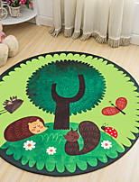 cheap -Area Rugs Casual / Modern Polyster, Circular Superior Quality Rug