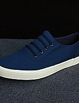 cheap -Men's Shoes Canvas Spring Comfort Sneakers White / Black / Blue