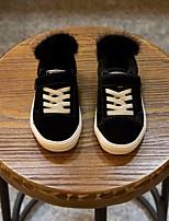 Недорогие -Девочки Обувь Кожа Зима Удобная обувь Кеды для Черный
