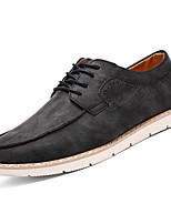 baratos -Homens sapatos Couro Ecológico Verão Conforto Oxfords para Ao ar livre Preto Marron Verde