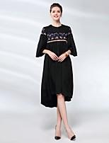 cheap -Proverb women's sheath dress - solid colored / floral midi