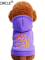 cheap -Dogs / Cats / Pets Sweatshirt Dog Clothes Solid Colored / Quotes & Sayings Purple Cotton Costume For Pets Male Casual / Daily / Keep Warm