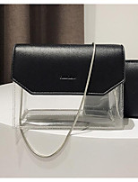 cheap -Women's Bags PU Bag Set 2 Pieces Purse Set Buttons White / Black / Red