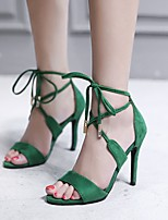cheap -Women's Shoes Flocking Spring & Summer Basic Pump Heels Stiletto Heel Black / Green / Party & Evening / Party & Evening