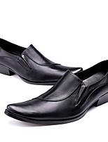 Недорогие -Муж. обувь Наппа Leather Осень Оригинальная обувь Туфли на шнуровке Для прогулок для Свадьба Для вечеринки / ужина Черный