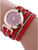baratos -Mulheres Bracele Relógio Chinês Cronógrafo PU Banda Rígida Vermelho