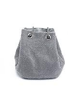 cheap -Women's Bags Terylene / Rhinestones Tote Crystals Silver