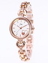baratos -Mulheres Bracele Relógio Chinês Cronógrafo / Relógio Casual Aço Inoxidável Banda Rígida Dourada