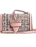 cheap -Women's Bags PU Shoulder Bag Embossed Black / Red / Blushing Pink