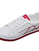 cheap -Men's Shoes PU Fall Comfort Sneakers Black / Red / Black / White