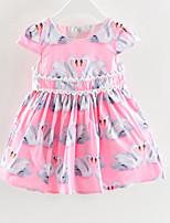 cheap -Kids Girls' Geometric Short Sleeve Dress