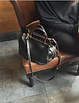 Недорогие -Жен. Мешки PU Сумка-шоппер Пуговицы / Молнии для на открытом воздухе Черный / Серый