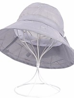 cheap -Women's Holiday Polyester Bucket Hat Sun Hat - Solid Colored Mesh