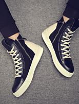 economico -Per uomo Scarpe PU (Poliuretano) Primavera / Autunno Comoda Sneakers Nero / Bianco / nero