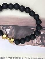 cheap -Men's Strand Bracelet - Metallic / Natural Circle Gold / Black / Silver Bracelet For Gift / Street