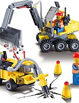 cheap -Building Blocks 196pcs Construction Vehicle High Quality Construction Truck Set Gift