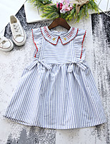 abordables -Enfants / Bébé Fille Bleu & blanc Rayé Sans Manches Robe