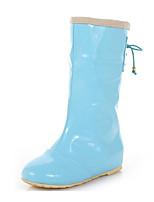 Недорогие -Жен. Обувь Резина Весна Резиновые сапоги Ботинки На плоской подошве Черный / Розовый / Светло-синий