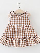 economico -Bambino (1-4 anni) Da ragazza Fantasia geometrica Senza maniche Vestito