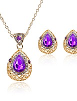 cheap -Women's Jewelry Set - Gold Plated Classic, Fashion Include Pendant Necklace / Bridal Jewelry Sets Purple For Wedding / Daily