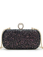 cheap -Women's Bags PU Leather Evening Bag Crystals for Wedding / Event / Party Black / Blushing Pink / Purple