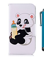 economico -Custodia Per Nokia Nokia 5.1 / Nokia 3.1 A portafoglio / Porta-carte di credito / Con supporto Integrale Panda Resistente pelle sintetica per Nokia 5.1 / Nokia 3.1 / Nokia 2.1