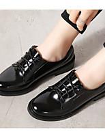 abordables -Femme Chaussures Polyuréthane Printemps Confort Oxfords Talon Bottier pour Décontracté Noir