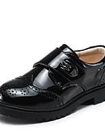 abordables -Garçon Chaussures Polyuréthane Printemps Confort Oxfords Scotch Magique Lacet pour De plein air Noir Gris foncé