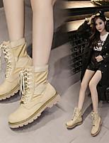 cheap -Women's Shoes PU(Polyurethane) Fall & Winter Fashion Boots Boots Chunky Heel Mid-Calf Boots Khaki