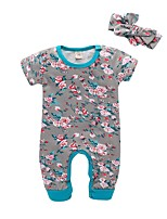 cheap -Baby Girls' Print Short sleeves Romper