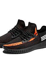 cheap -Men's Shoes Knit Fall Comfort Sneakers Black / White / Orange / Black
