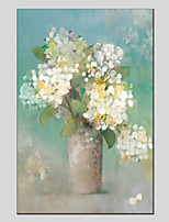 cheap -Oil Painting Hand Painted - Still Life Floral / Botanical Modern Canvas